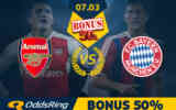 50 PLN zwrotu na Arsenal - Bayern